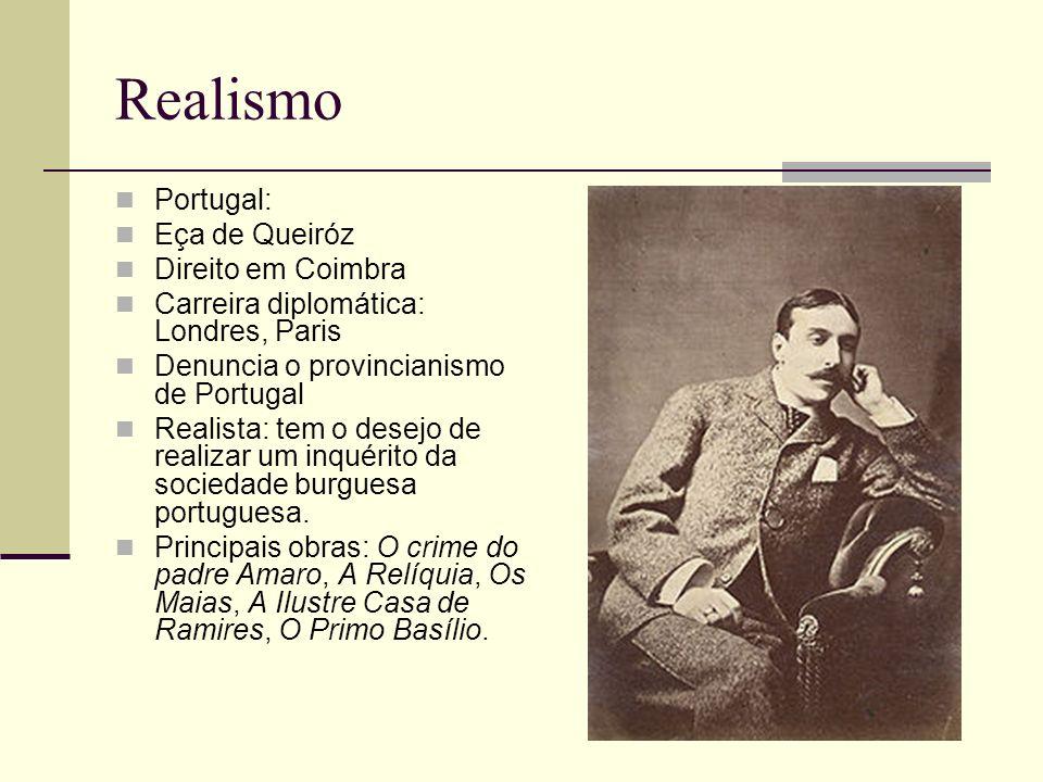 Realismo Portugal: Eça de Queiróz Direito em Coimbra