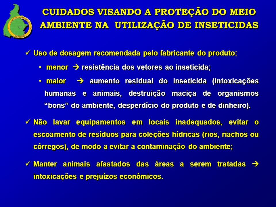 CUIDADOS VISANDO A PROTEÇÃO DO MEIO AMBIENTE NA UTILIZAÇÃO DE INSETICIDAS