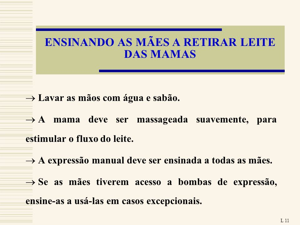 ENSINANDO AS MÃES A RETIRAR LEITE DAS MAMAS