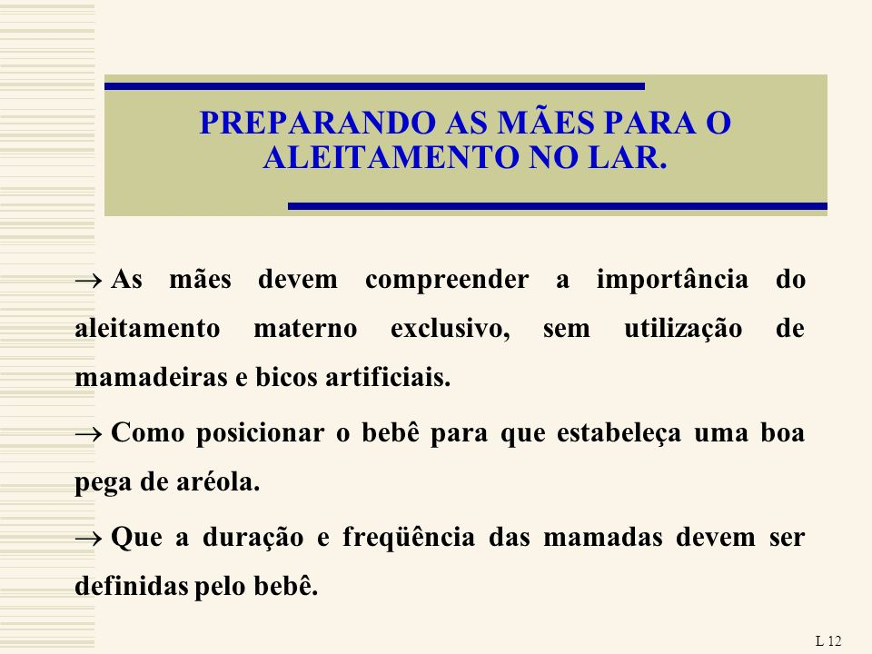 PREPARANDO AS MÃES PARA O ALEITAMENTO NO LAR.
