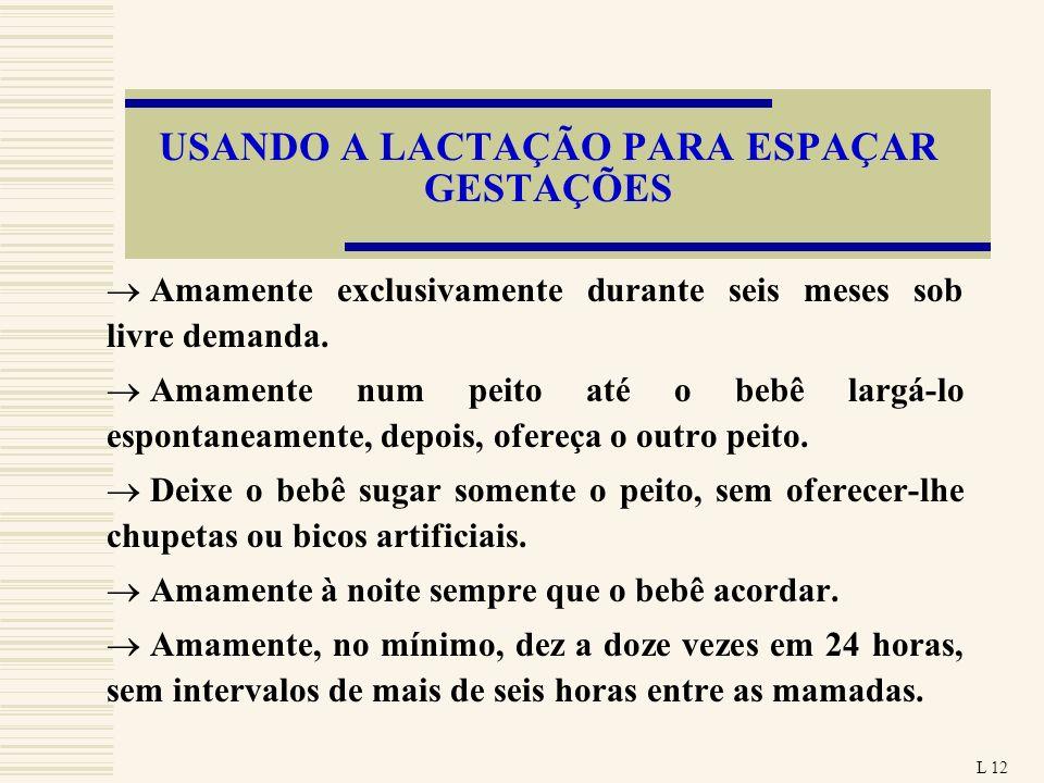 USANDO A LACTAÇÃO PARA ESPAÇAR GESTAÇÕES