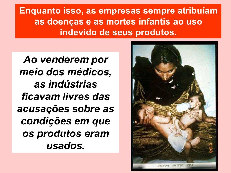Ao venderem por meio dos médicos, as indústrias ficavam livres das acusações sobre as condições em que os produtos eram usados.