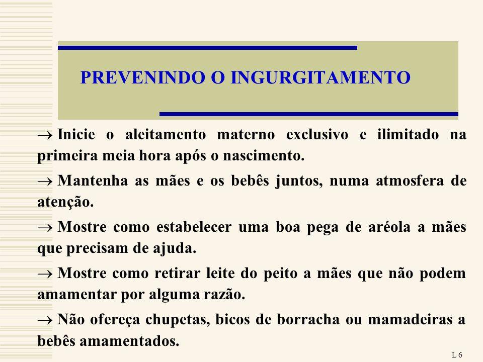 PREVENINDO O INGURGITAMENTO