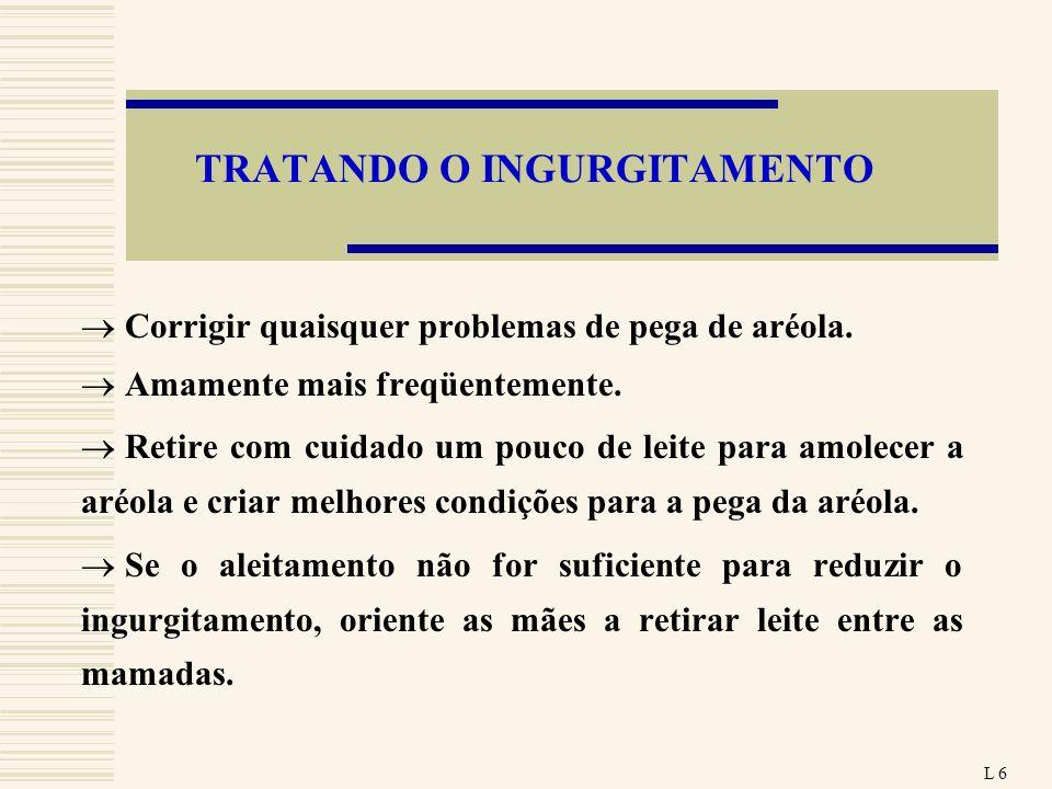 TRATANDO O INGURGITAMENTO