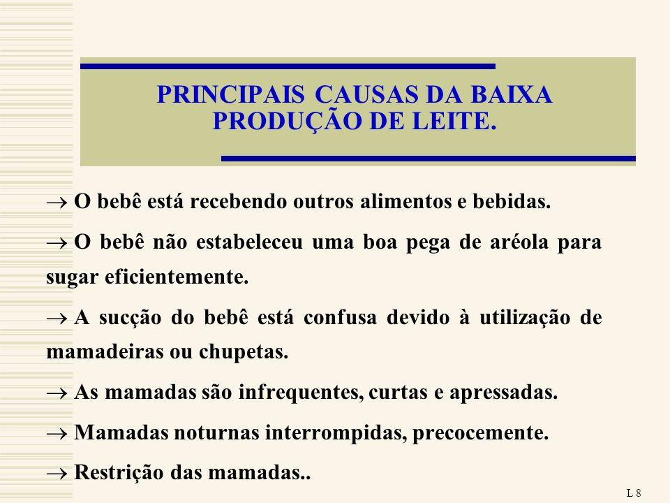 PRINCIPAIS CAUSAS DA BAIXA PRODUÇÃO DE LEITE.