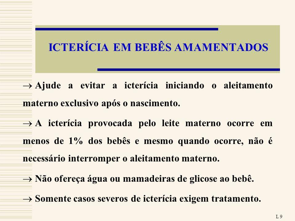 ICTERÍCIA EM BEBÊS AMAMENTADOS