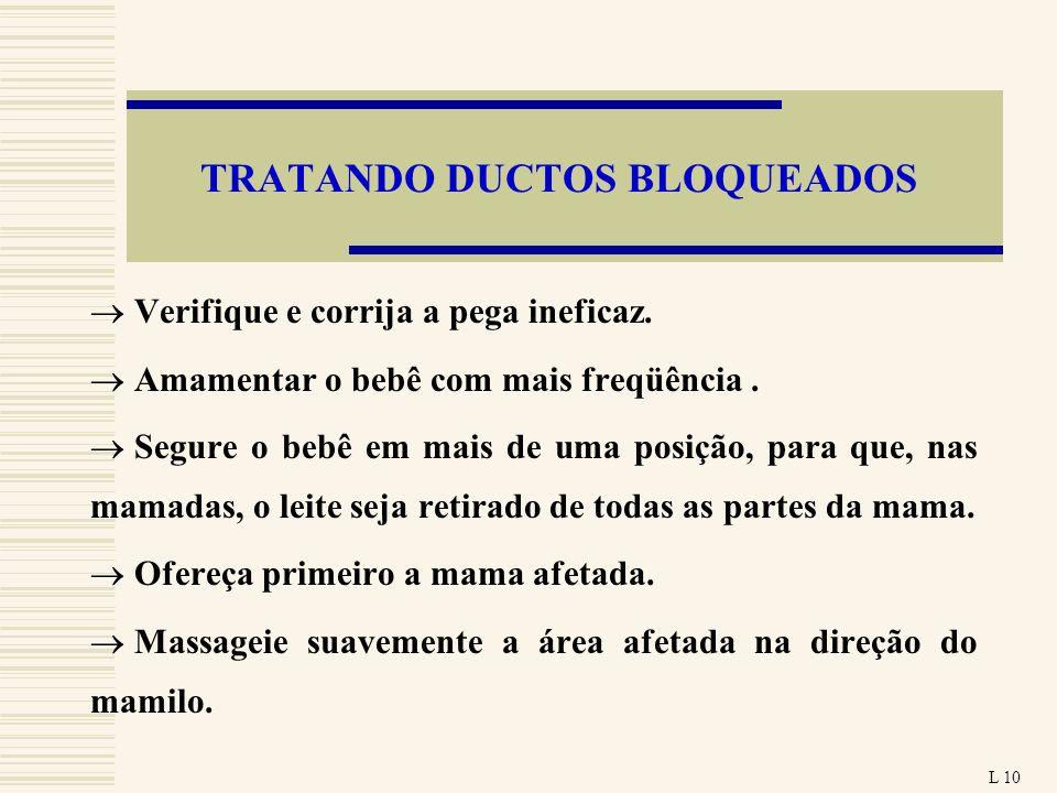 TRATANDO DUCTOS BLOQUEADOS