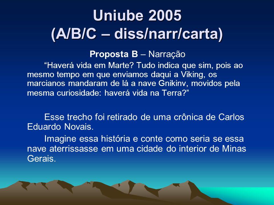 Uniube 2005 (A/B/C – diss/narr/carta)