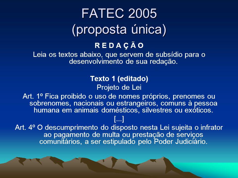 FATEC 2005 (proposta única)