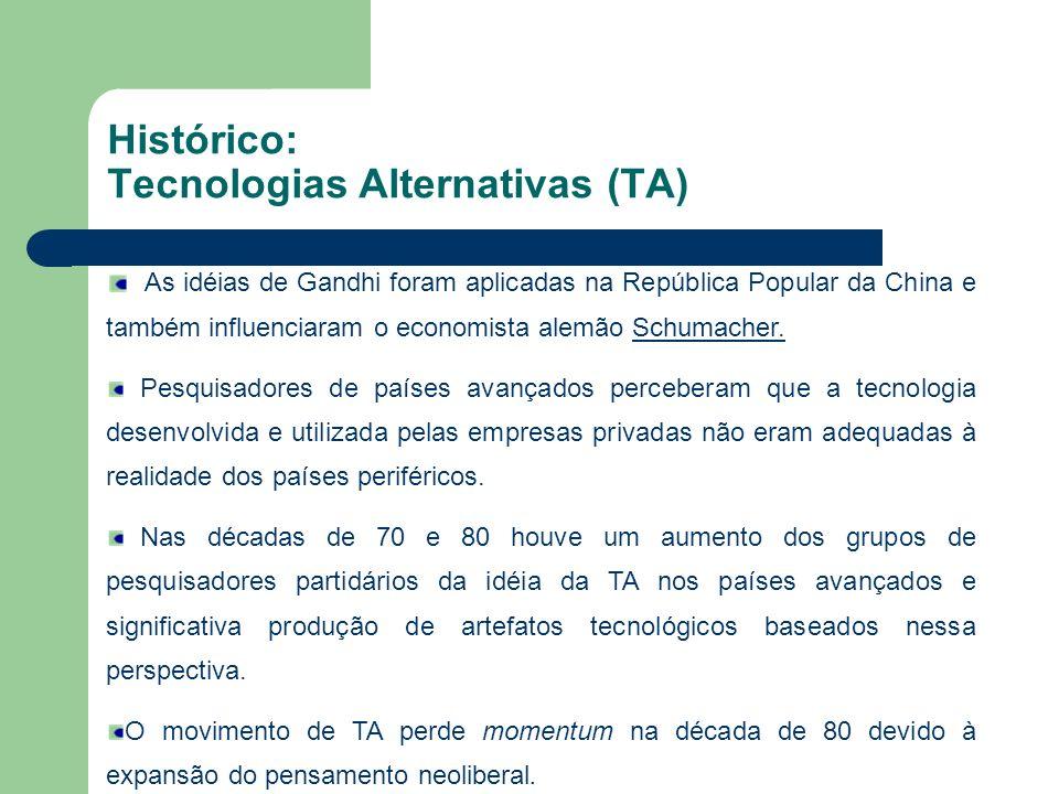 Histórico: Tecnologias Alternativas (TA)
