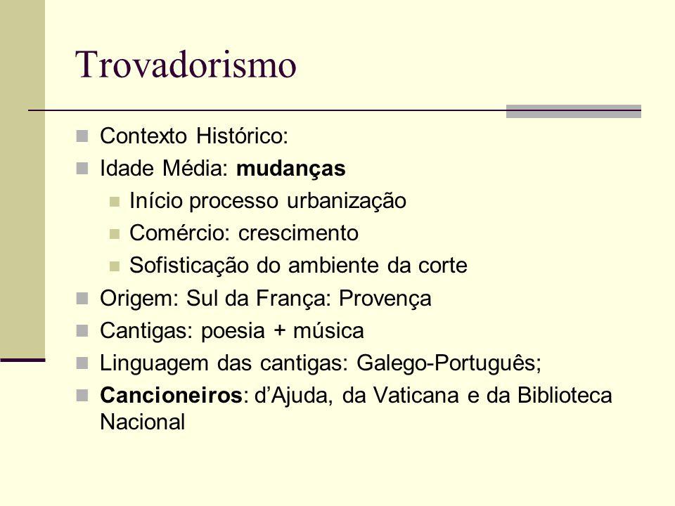 Trovadorismo Contexto Histórico: Idade Média: mudanças