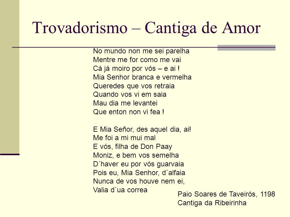 Trovadorismo – Cantiga de Amor