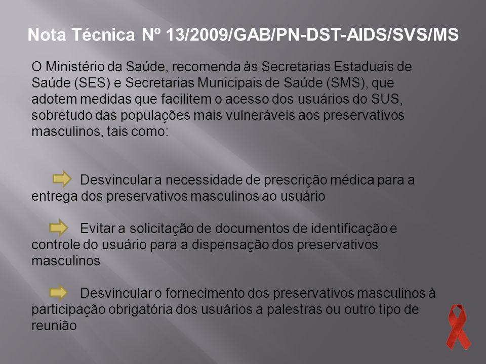 Nota Técnica Nº 13/2009/GAB/PN-DST-AIDS/SVS/MS