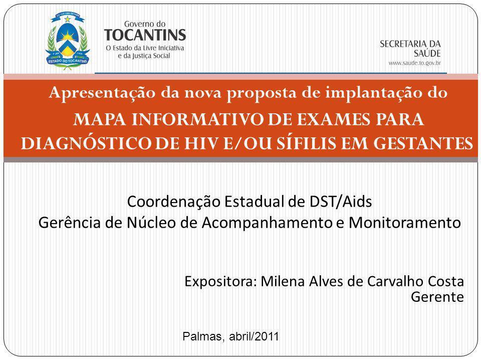 Apresentação da nova proposta de implantação do