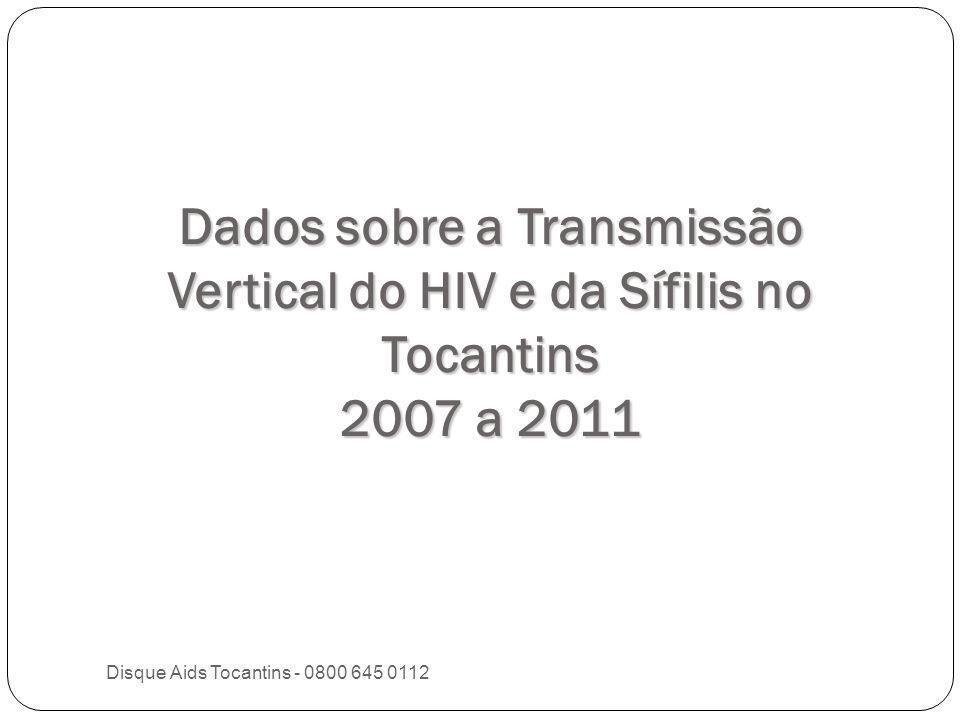 Dados sobre a Transmissão Vertical do HIV e da Sífilis no Tocantins 2007 a 2011