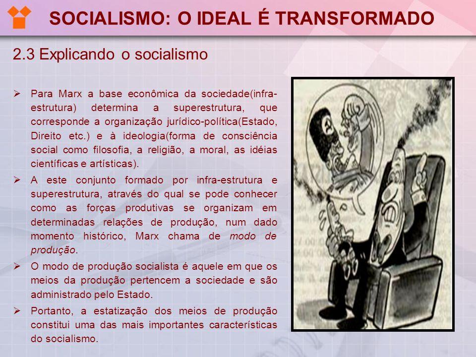 SOCIALISMO: O IDEAL É TRANSFORMADO