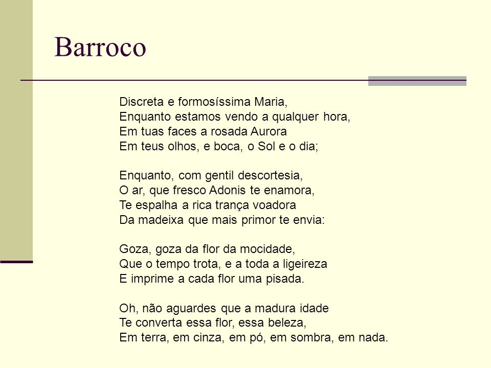 Barroco Discreta e formosíssima Maria,