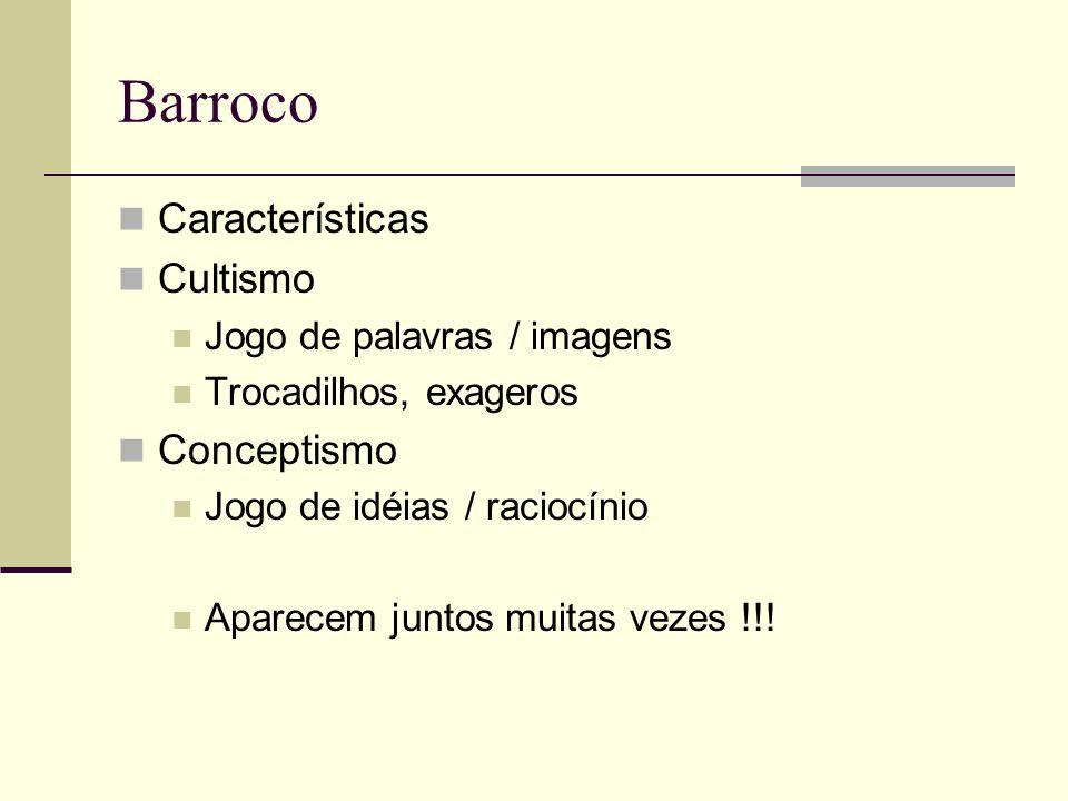 Barroco Características Cultismo Conceptismo
