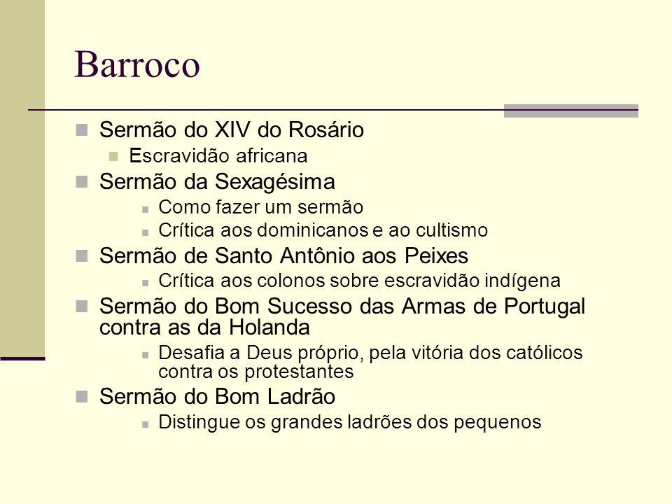 Barroco Sermão do XIV do Rosário Sermão da Sexagésima