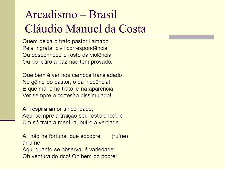 Arcadismo – Brasil Cláudio Manuel da Costa
