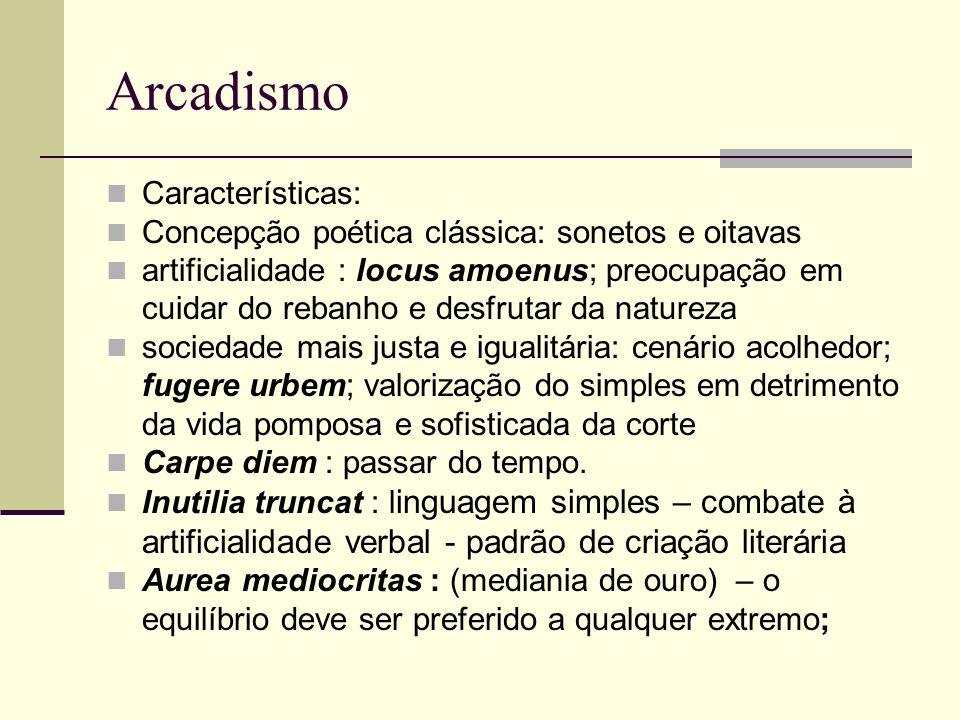 Arcadismo Características: