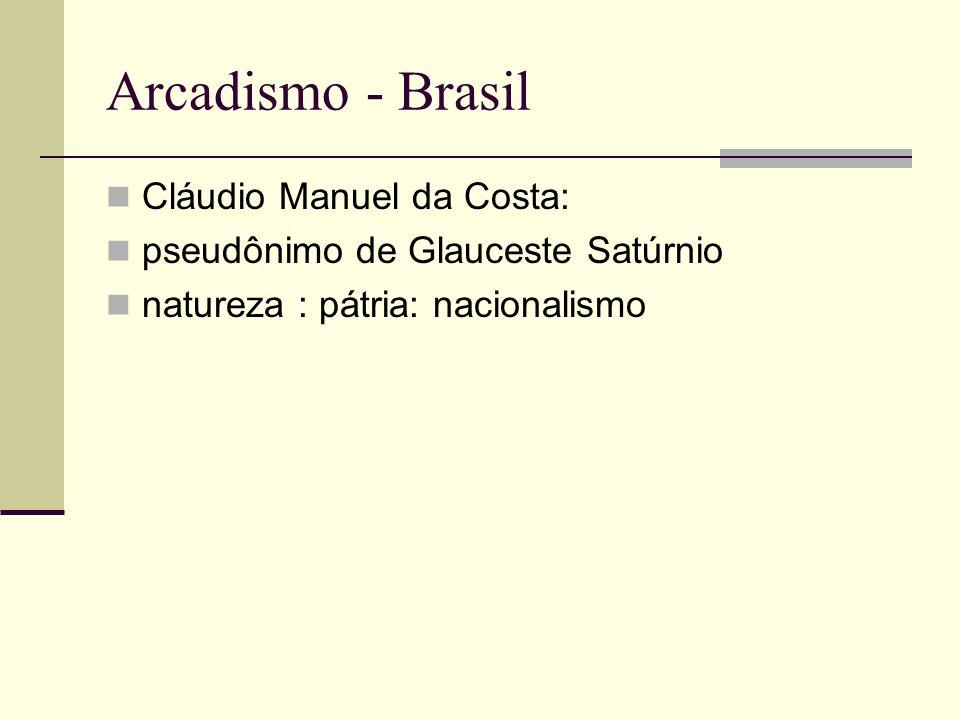 Arcadismo - Brasil Cláudio Manuel da Costa:
