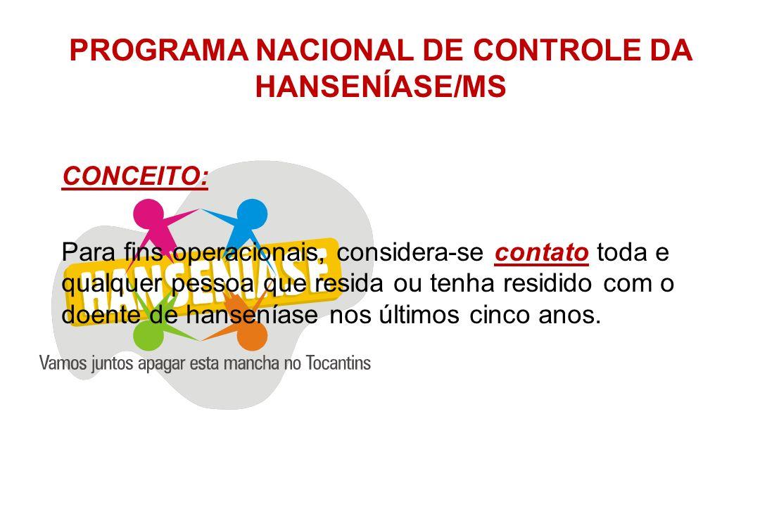 PROGRAMA NACIONAL DE CONTROLE DA HANSENÍASE/MS