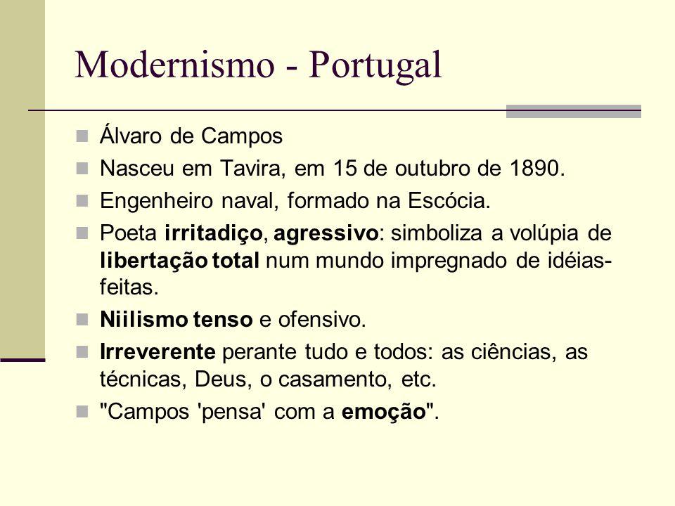 Modernismo - Portugal Álvaro de Campos