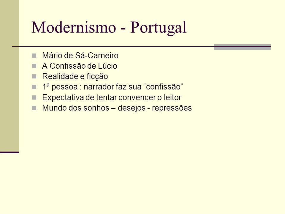 Modernismo - Portugal Mário de Sá-Carneiro A Confissão de Lúcio
