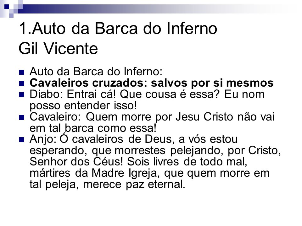 1.Auto da Barca do Inferno Gil Vicente