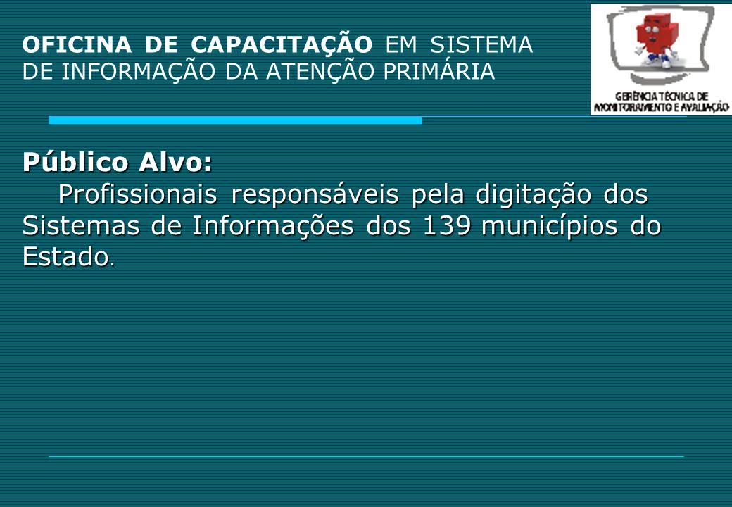 OFICINA DE CAPACITAÇÃO EM SISTEMA DE INFORMAÇÃO DA ATENÇÃO PRIMÁRIA