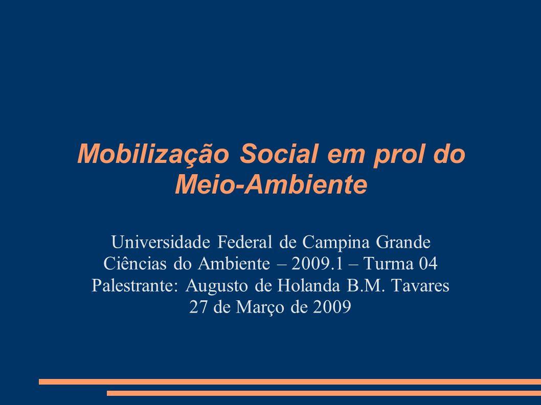 Mobilização Social em prol do Meio-Ambiente