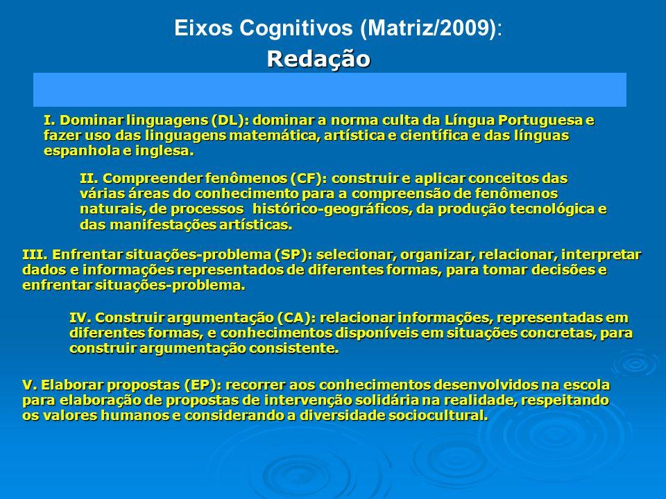 Eixos Cognitivos (Matriz/2009):