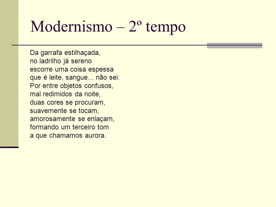 Modernismo – 2º tempo