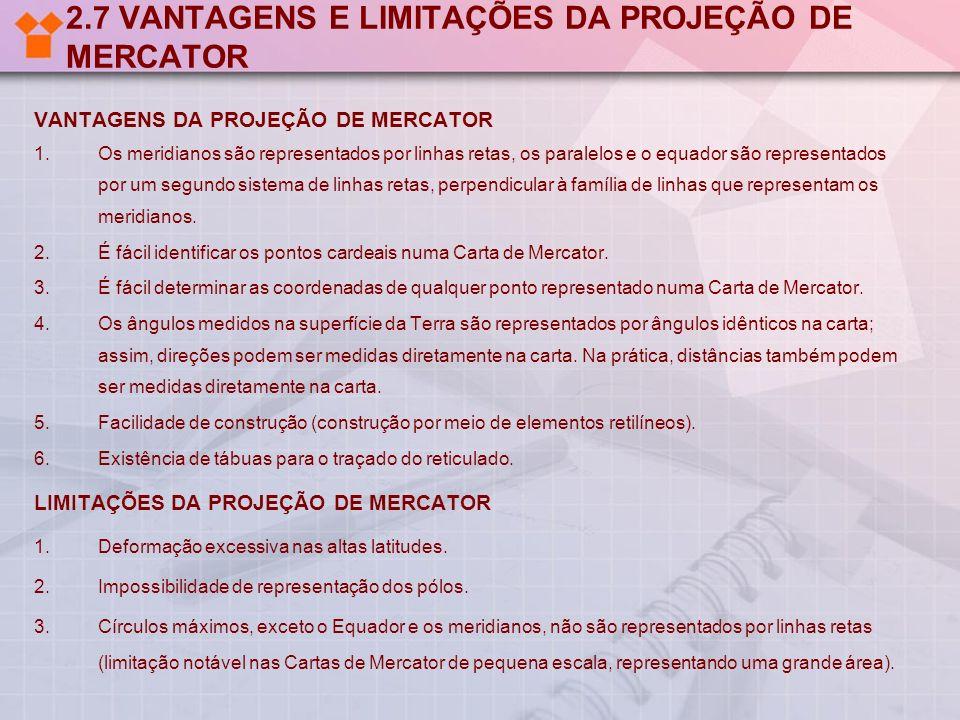 2.7 VANTAGENS E LIMITAÇÕES DA PROJEÇÃO DE MERCATOR