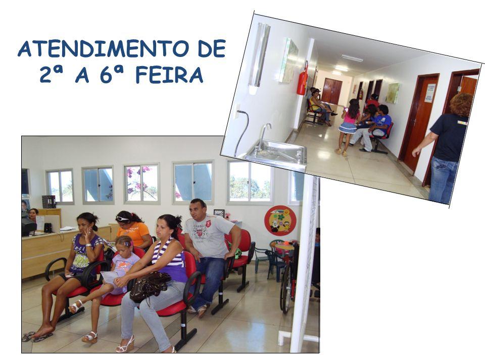 ATENDIMENTO DE 2ª A 6ª FEIRA