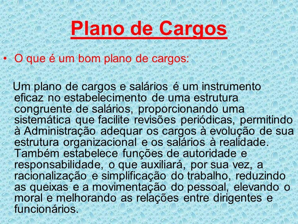 Plano de Cargos O que é um bom plano de cargos: