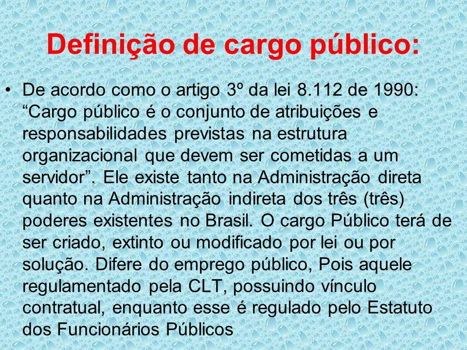 Definição de cargo público:
