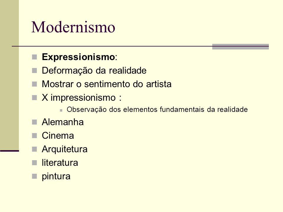 Modernismo Expressionismo: Deformação da realidade