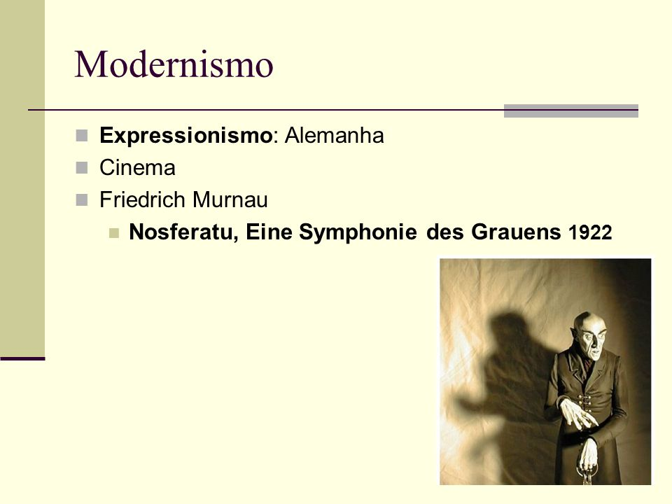 Modernismo Expressionismo: Alemanha Cinema Friedrich Murnau