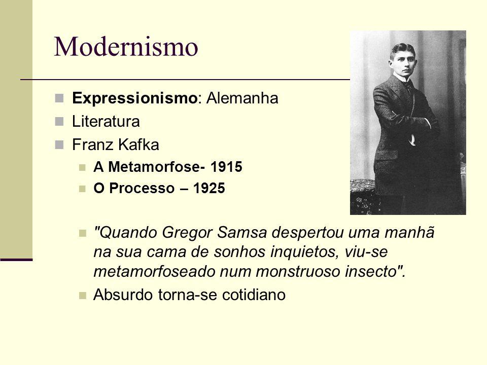 Modernismo Expressionismo: Alemanha Literatura Franz Kafka