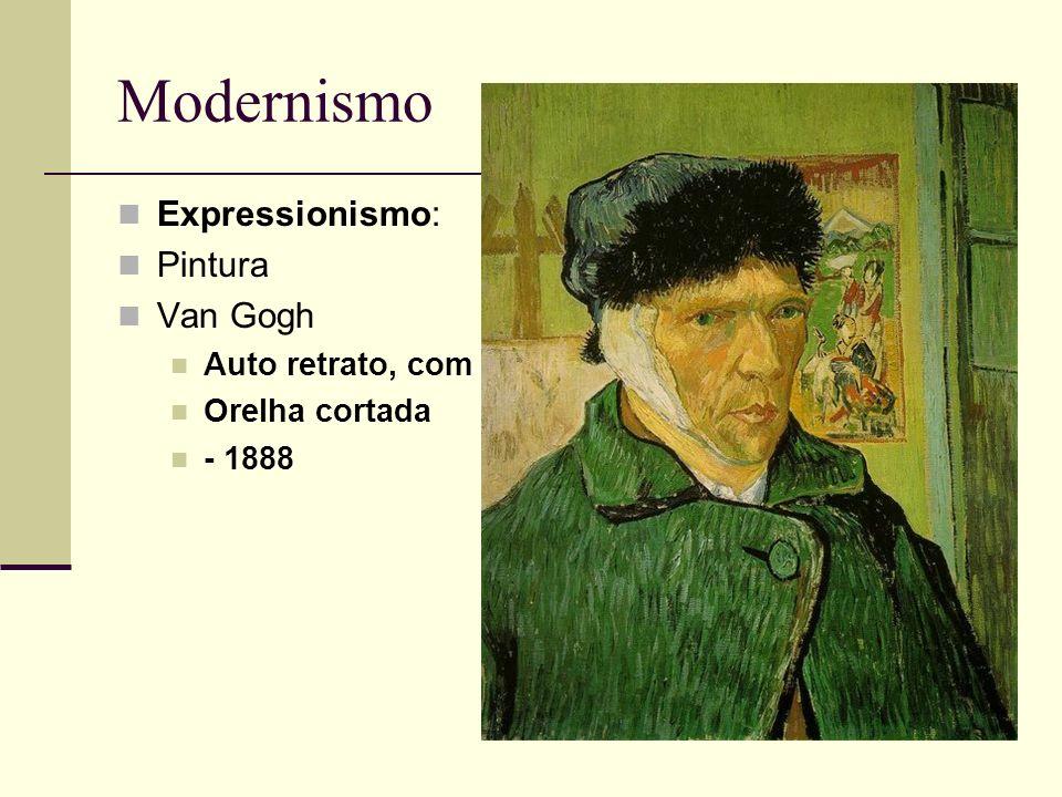 Modernismo Expressionismo: Pintura Van Gogh Auto retrato, com