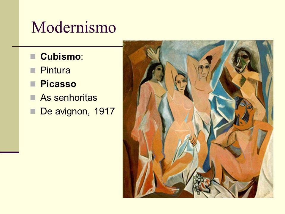 Modernismo Cubismo: Pintura Picasso As senhoritas De avignon, 1917