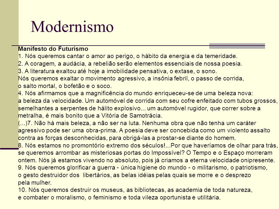 Modernismo Manifesto do Futurismo