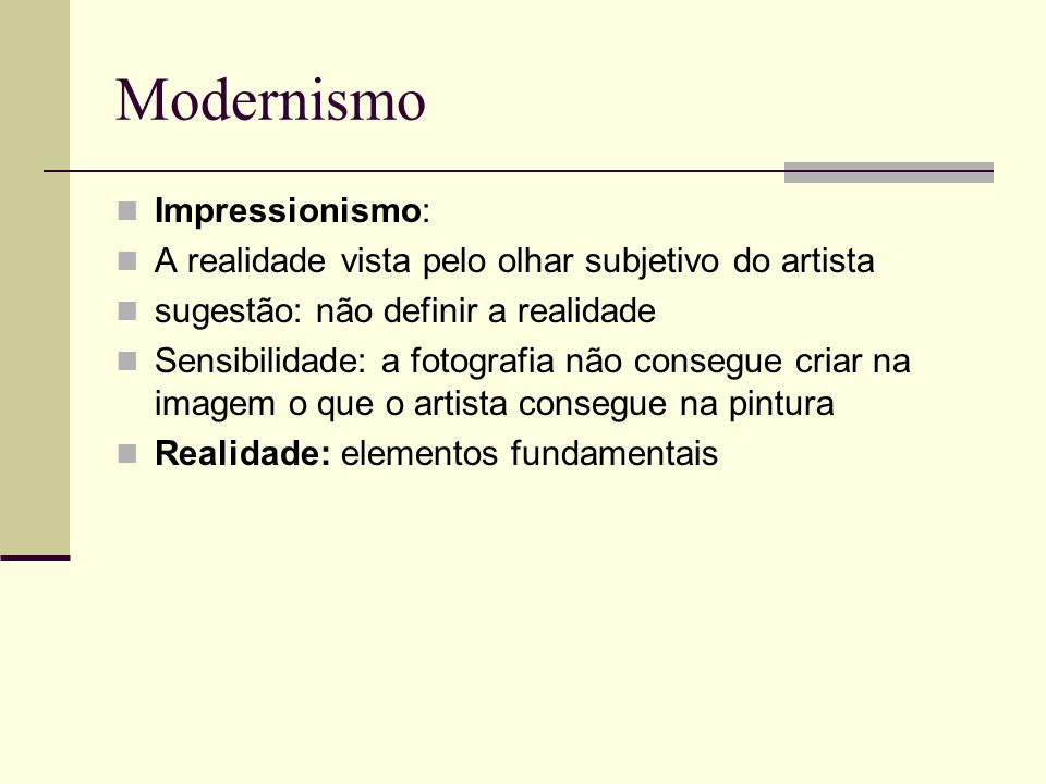 Modernismo Impressionismo: