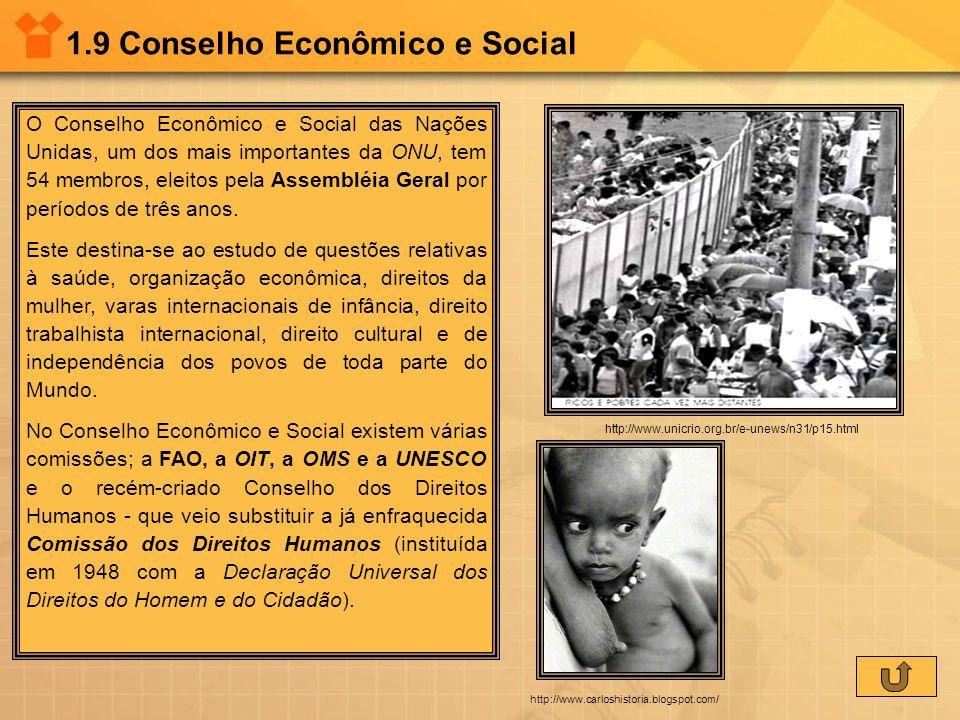 1.9 Conselho Econômico e Social