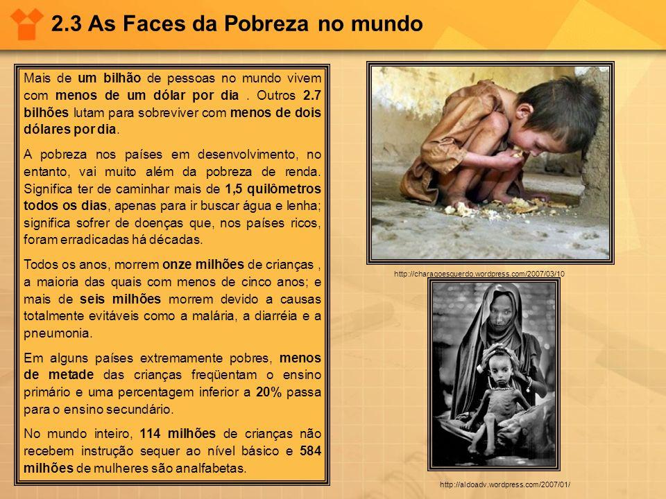 2.3 As Faces da Pobreza no mundo