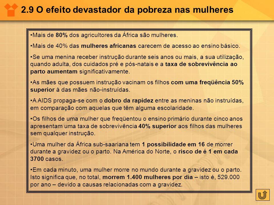 2.9 O efeito devastador da pobreza nas mulheres