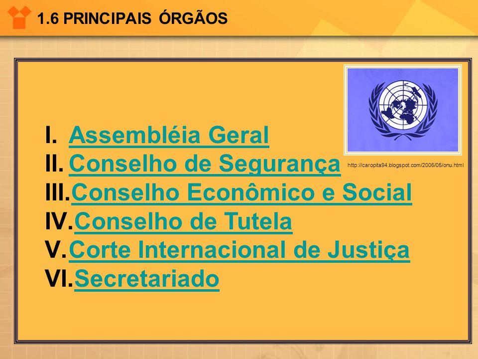 Conselho Econômico e Social Conselho de Tutela
