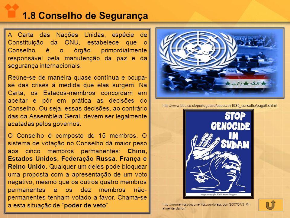 1.8 Conselho de Segurança